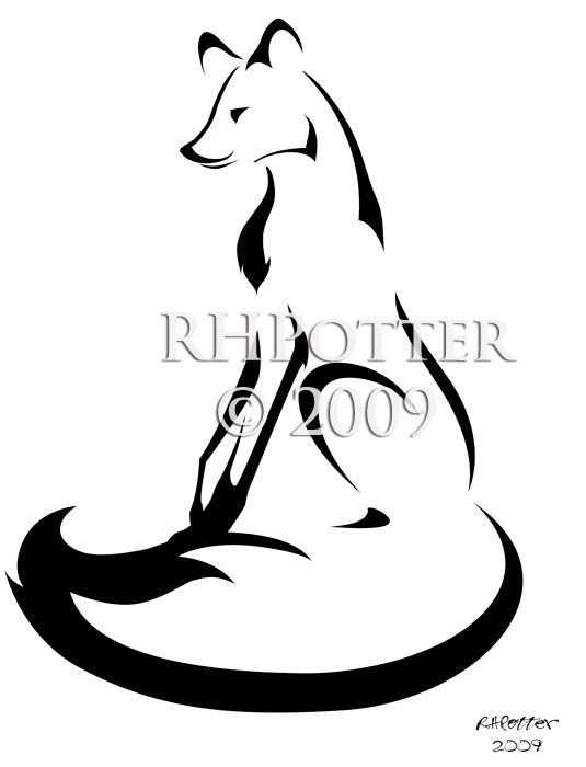 Seated Fox by RHPotter on deviantART