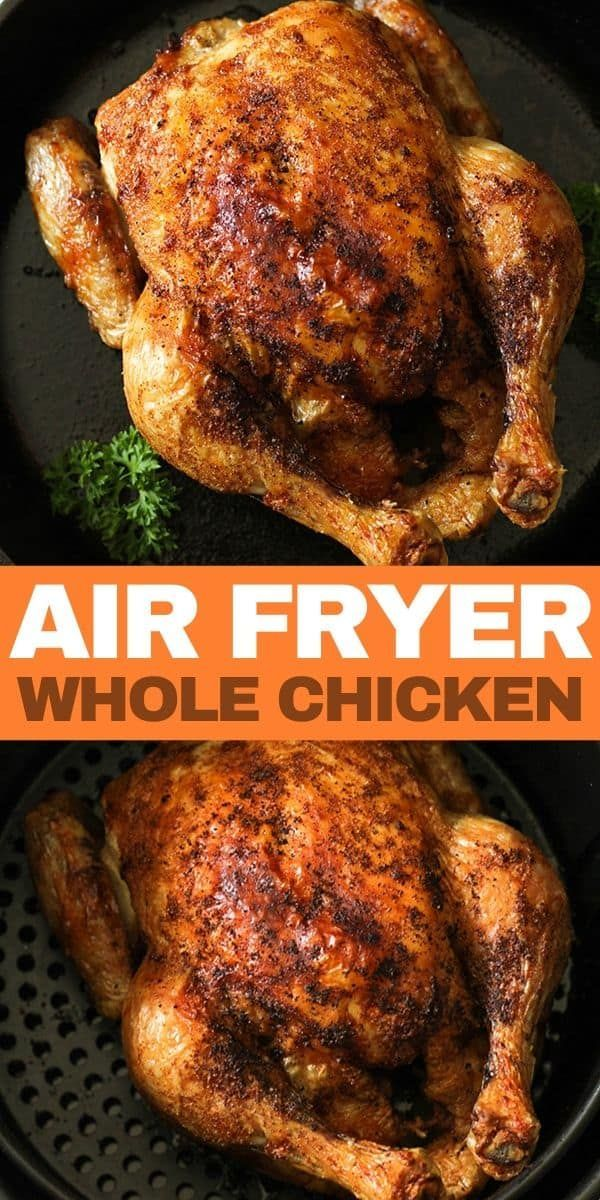 Air Fryer Whole Chicken (Whole30, Paleo)