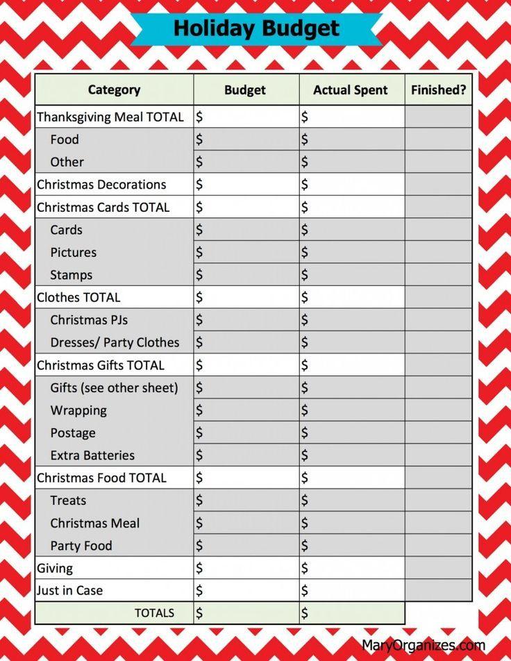 seasonal budget free printable holiday guide budgeting group