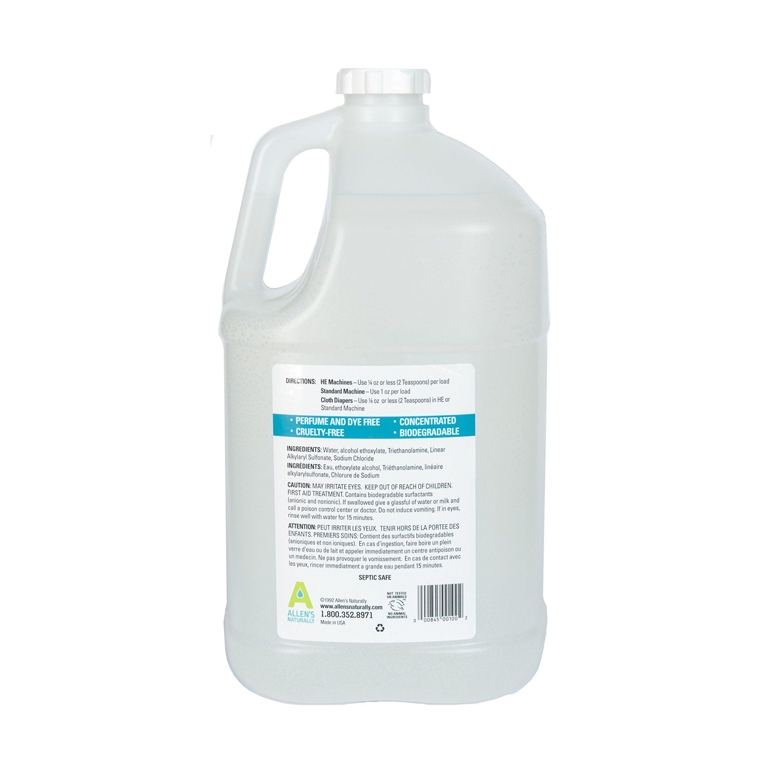 Allens Naturally Liquid Soap Laundry Detergent 1 Gallon 128 Fl Oz