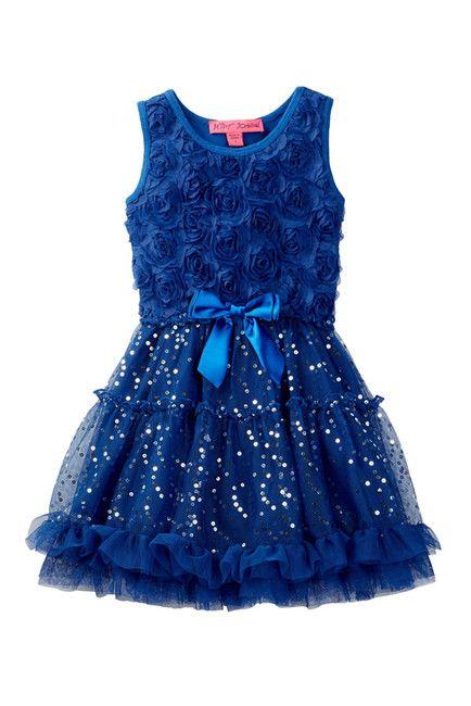 Image of Betsey Johnson Rosette Bodice & Tutu Bottom Dress (Little Girls)