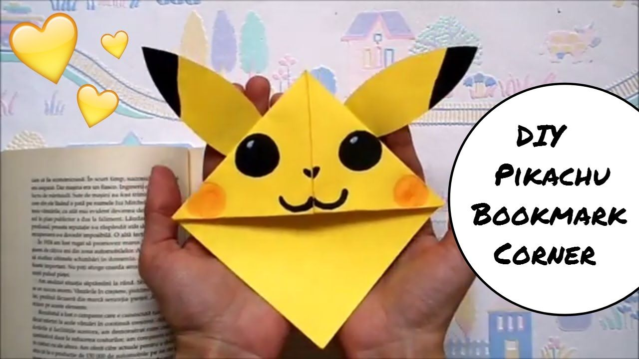 DIY Pikachu Bookmark Corner