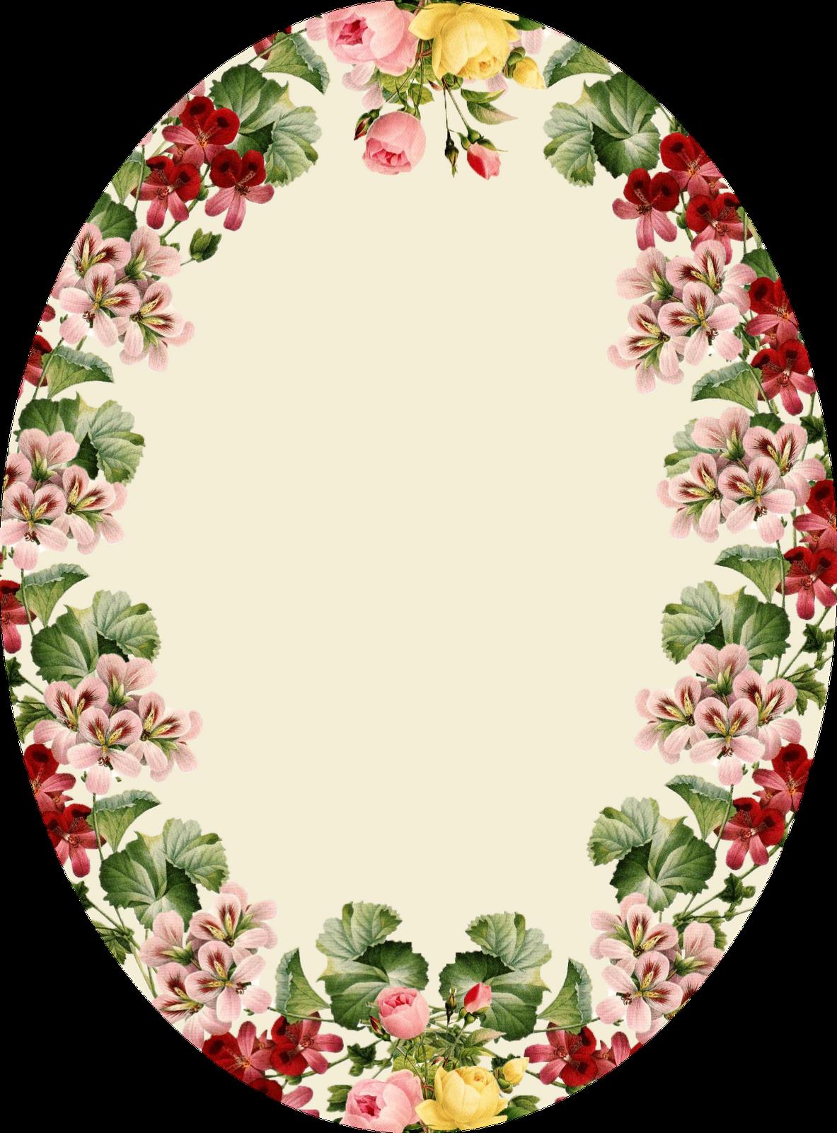 Une Jolie Etiquette Vintage Printable Frames Vintage Flowers Flower Frame