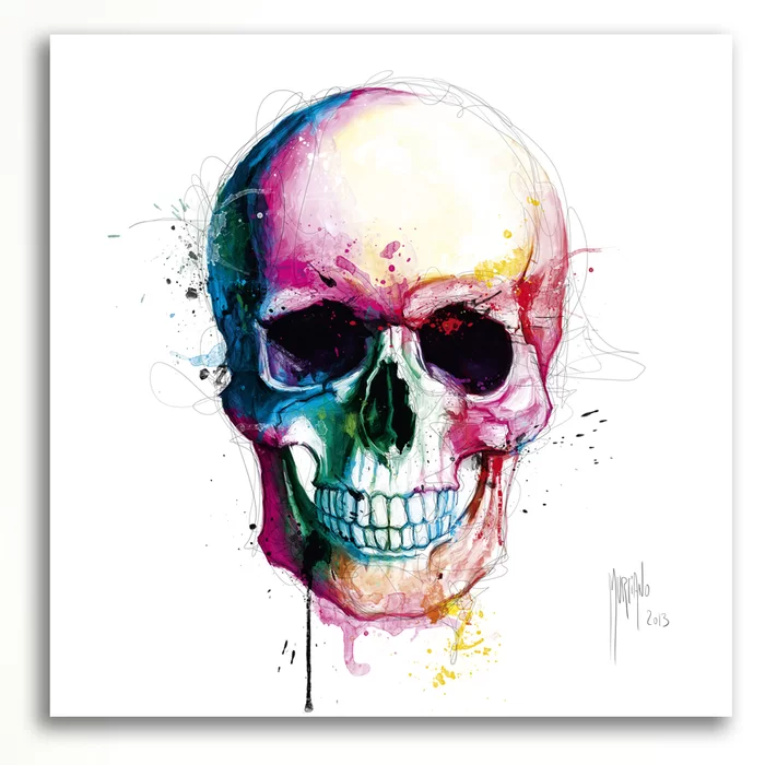Angel S Skull By Patrice Murciano Graphic Art On Wrapped Canvas In 2021 Skull Painting Skull Art Skull Art Print