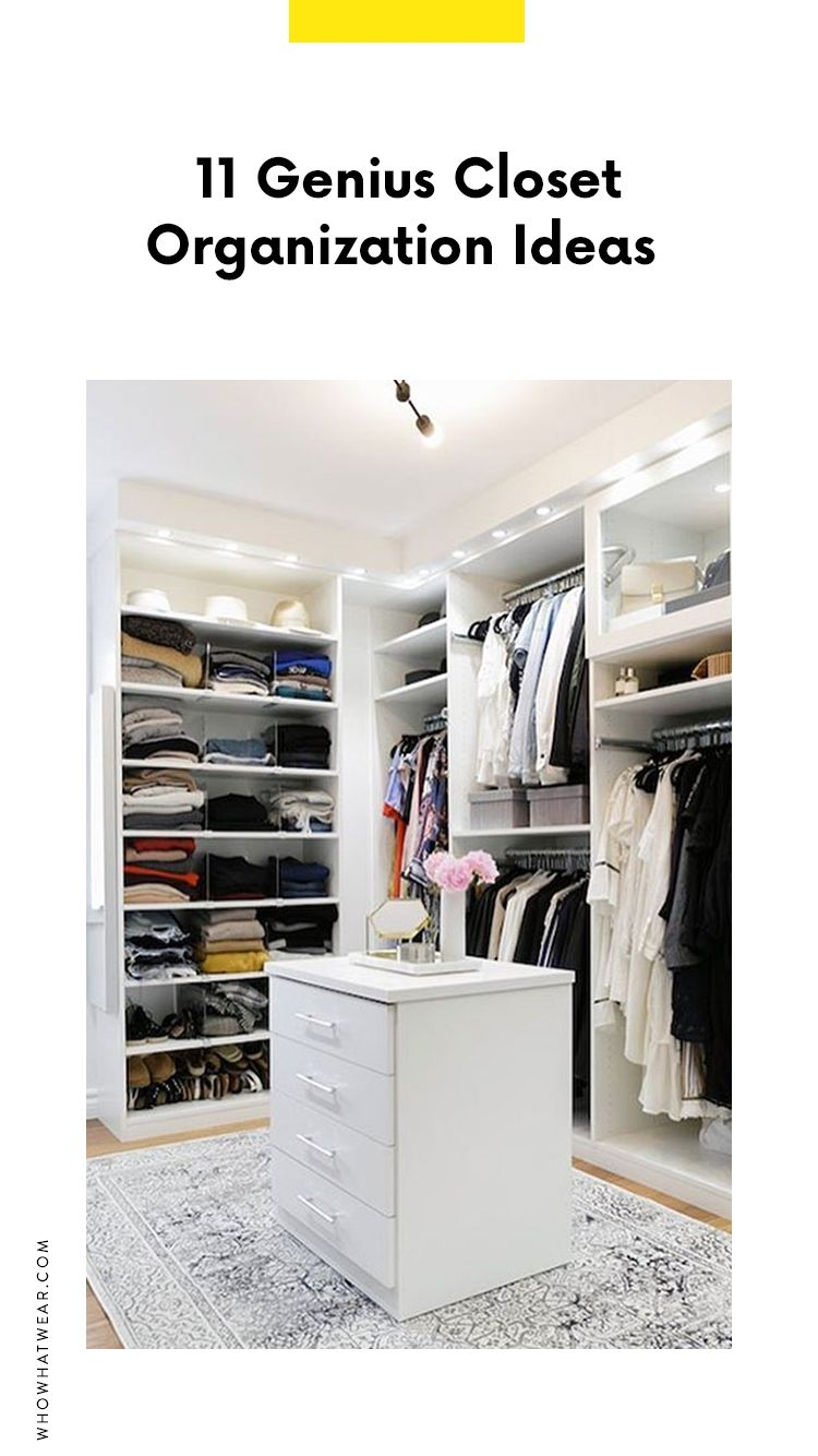 6 Closet Organization Ideas From Pinterest | Dressing maison ...