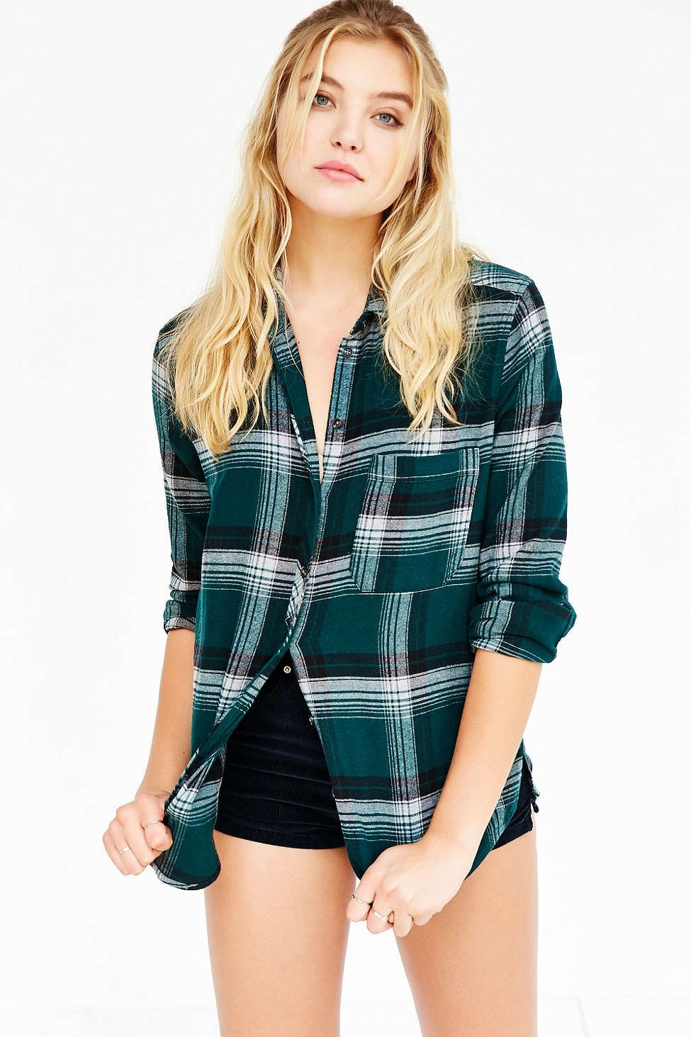 Flannel shirt outfits for women  BDG Olly Flannel Shirt  clothing pieces  Pinterest  Flannel
