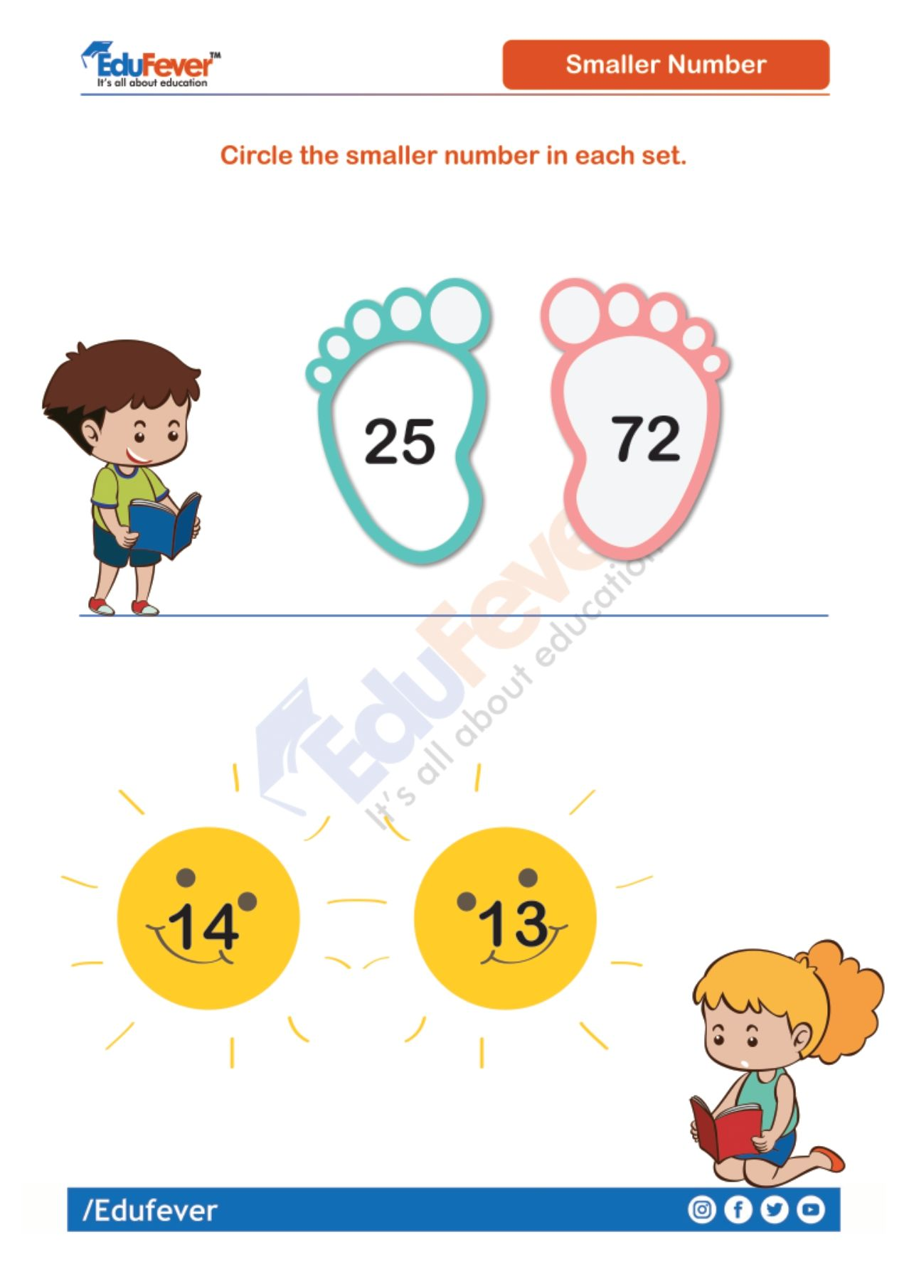 Circle The Small Number Ukg Maths Worksheet Number Worksheets Math Worksheet Mathematics Worksheets