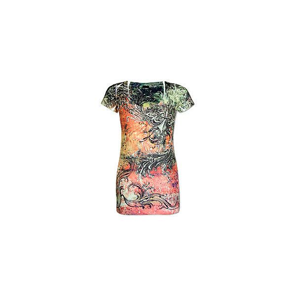 Daytrip Splattered Fleur T-Shirt ($20) ❤ liked on Polyvore featuring tops, t-shirts, rhinestone tees, daytrip shirts, splatter shirt, rhinestone shirts and daytrip