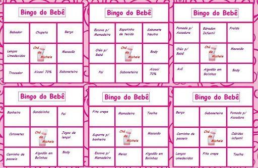 Top Cha De Bebe Cartelas De Bingo Para Imprimir | Festas, Feriados e  QI04