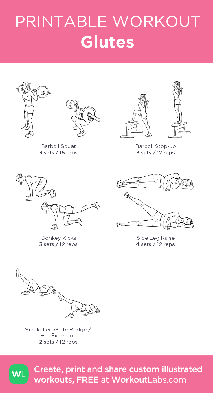 Glutes My Custom Workout Created At Workoutlabs Com Click Through To Download As Printable Pdf Customworkout Workout Plan Gym Glutes Workout Workout Labs