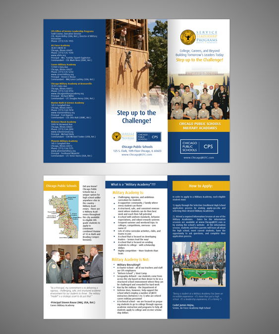 freelance Help Chicago Public Schools - Military Academy Brochure with a  new brochure design by moinu33cu