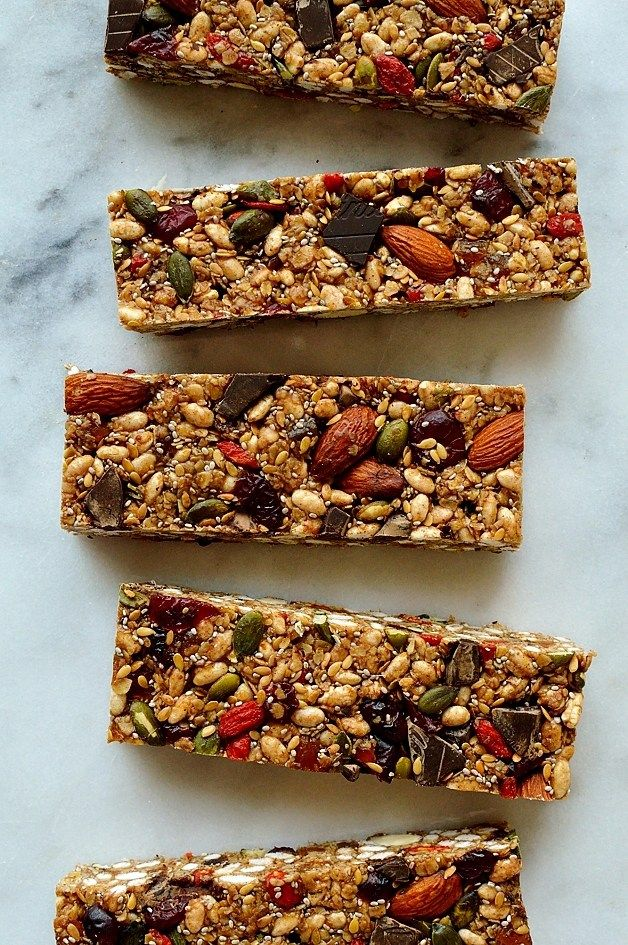 No Bake Superfood Granola Bars   Chewy, Filling And Super Healthy Granola  Bars Packed Full