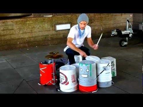 ♪ Inconnu - el mejor baterista callejero ♪