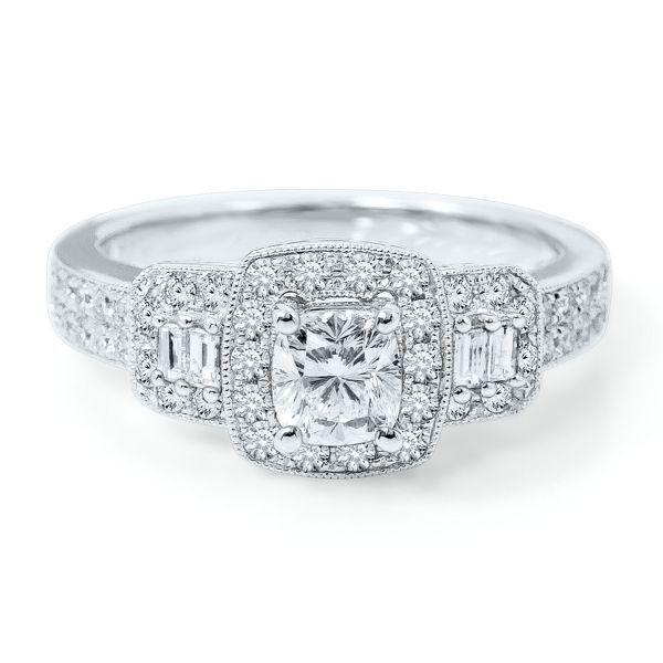 Helzberg Radiant Star 174 1 1 4 Ct Tw Diamond Engagement
