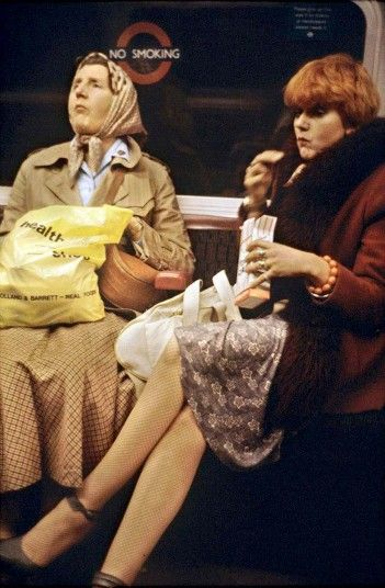 Passengers on the Underground by Bob Mazzer