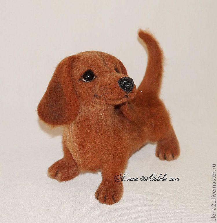 Купить Элизабет - собака из шерсти, собака, игрушка ручной работы, авторская игрушка, скульптура из шерсти