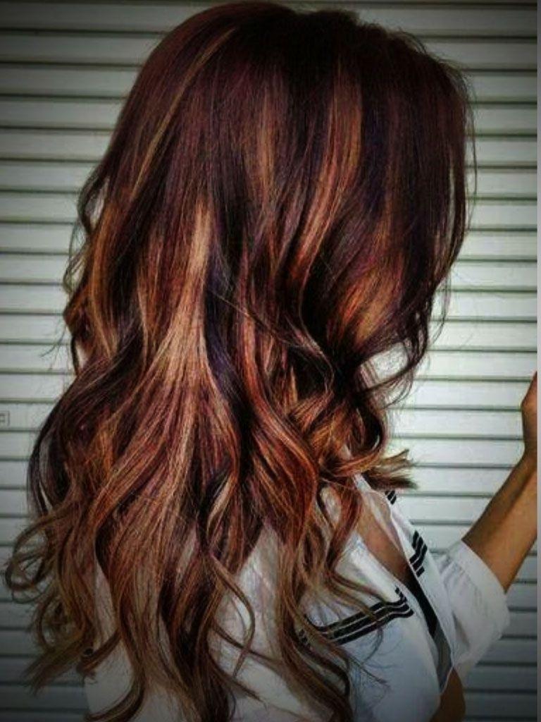 Rot Braune Haare Blond Highlights Uhhhhh Hair Auburn Hair