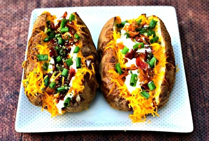 Easy, Air Fryer Loaded Stuffed Baked Potatoes with {VIDEO} is a quick recipe that will show you the