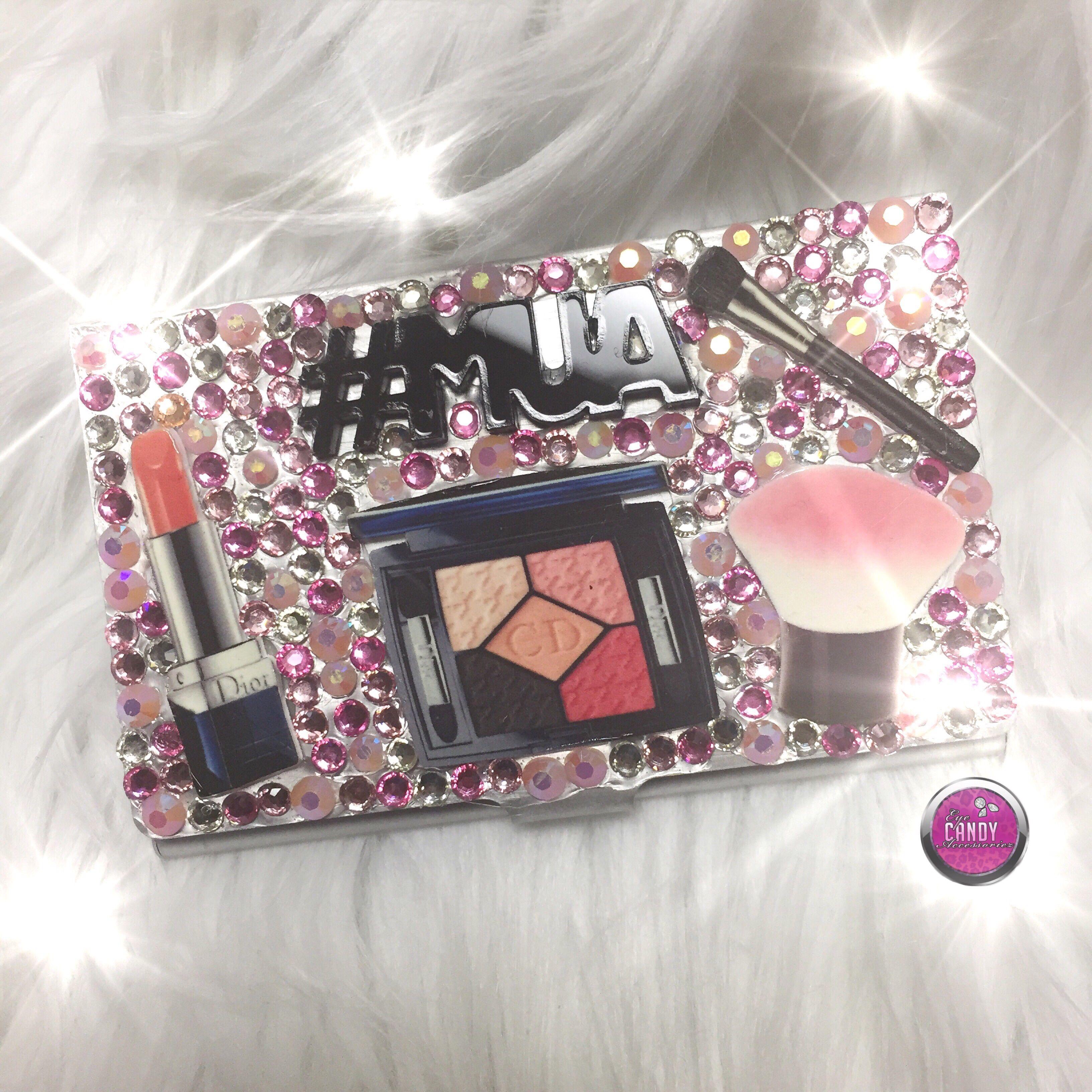 handmade makeup artist theme cute business card holder  eye candy