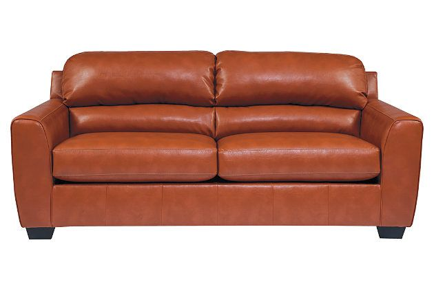 Orange Kaylor DuraBlend® Sofa View 2 (With images ...