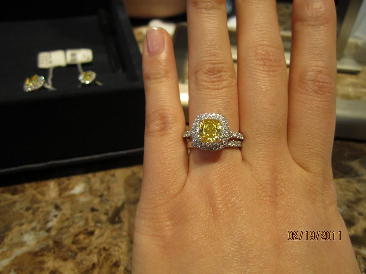 tiffany yellow diamond engagement ring - Yellow Diamond Wedding Rings