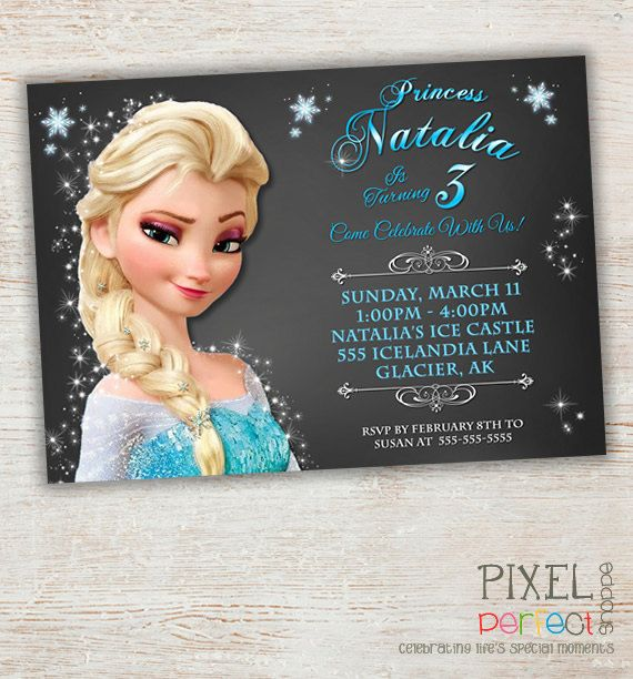 Frozen Birthday Invitations Thank You Cards and Party Favors for