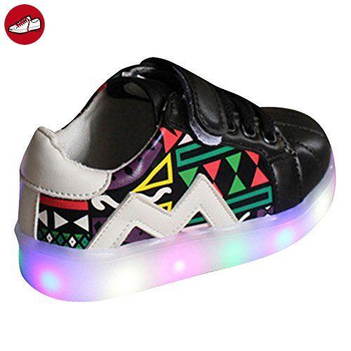 [Present:kleines Handtuch]Weiß EU 35, Wiederaufladbare Sportschuhe Licht weise Up JUNGLEST® Flashing LED Luminous Farben USB