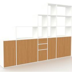 Photo of Regalsystem Weiß – Regalsystem: Schubladen in Eiche & Türen in Eiche – Hochwertige Materialien – 267