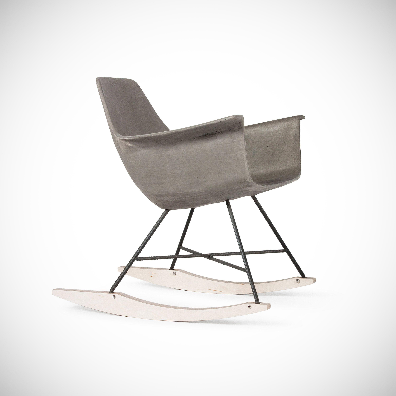 The Hauteville Concrete Rocking Chair Gessato Schaukelstuhl Stuhle Lyon