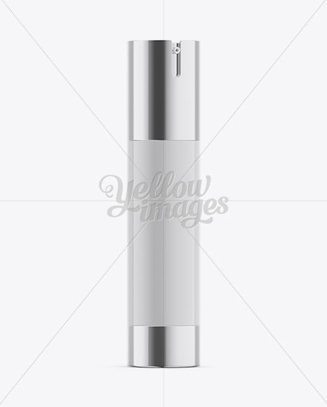 50ml Airless Pump Bottle Mockup - Half-Side View