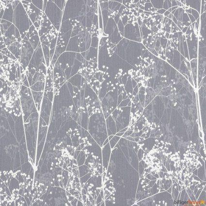 Tapete Deco Chic 2015 Rasch Vliestapete 728613 Natur grau weiß - tapeten rasch wohnzimmer