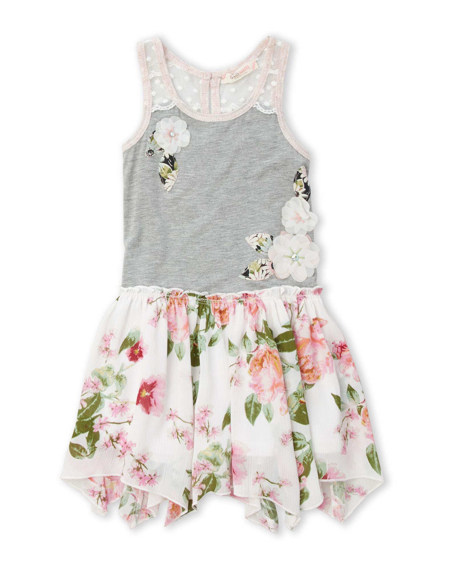 Baby Sara Toddler Girls Floral Drop Waist Dress