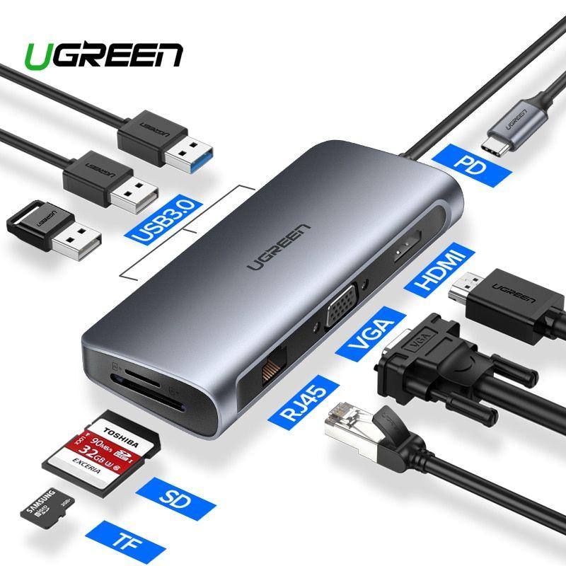 USBC HUB Dual TypeC to USB 3.0 Splitter HDMI Adapter MacBook Compatible Portable