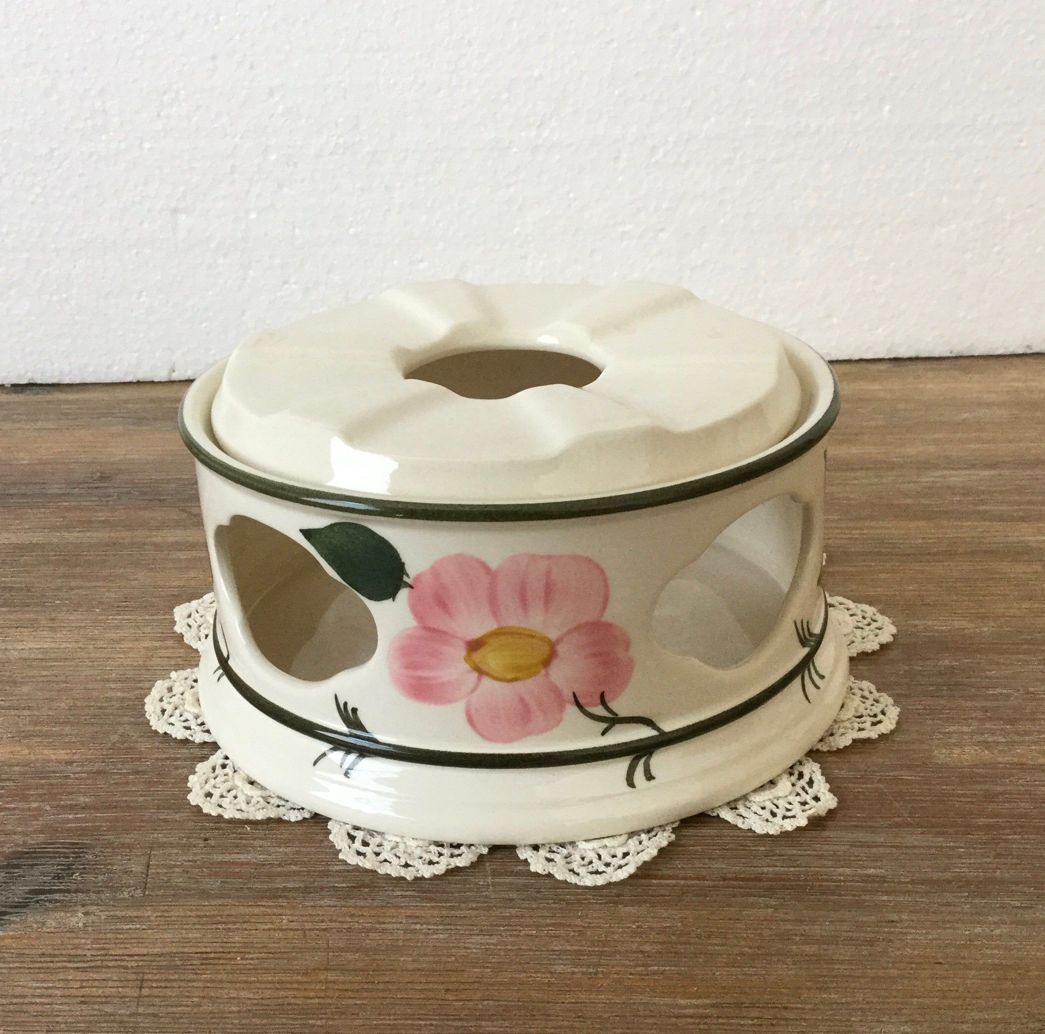 Villeroy Boch Wild Rose Pot Warmer Rechaud Wildrose Pattern In 2020 Villeroy Boch Vintage Tea Party Vintage Tea