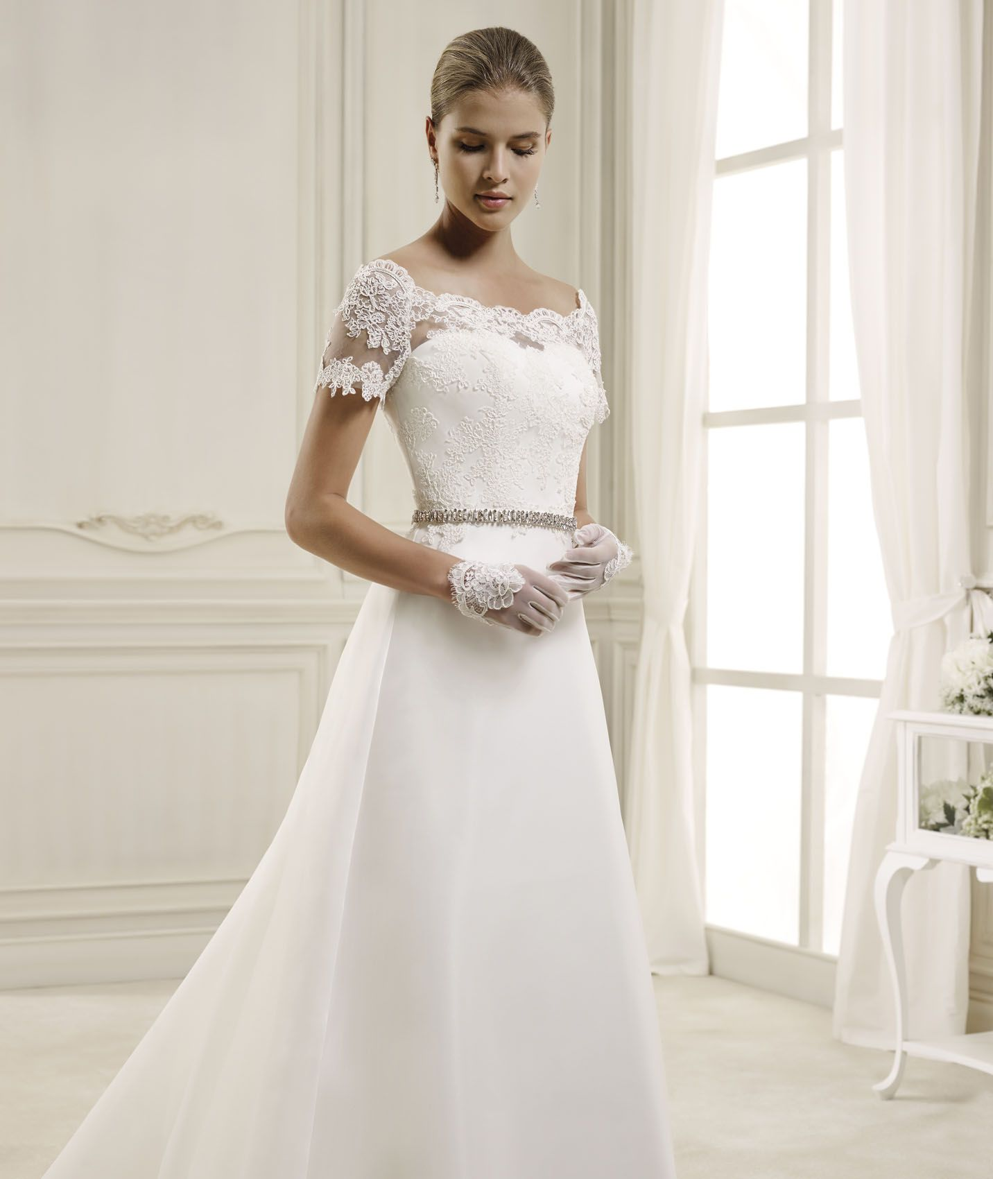 Abito da Sposa NIAB14034IV collezione NICOLE 2014, Nicole Spose  weddingbrand.com