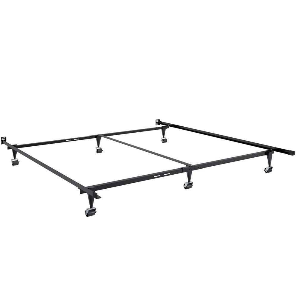 Adjustable Queen Or King Metal Bed Frame King Metal Bed Frame Corliving Bed Frame