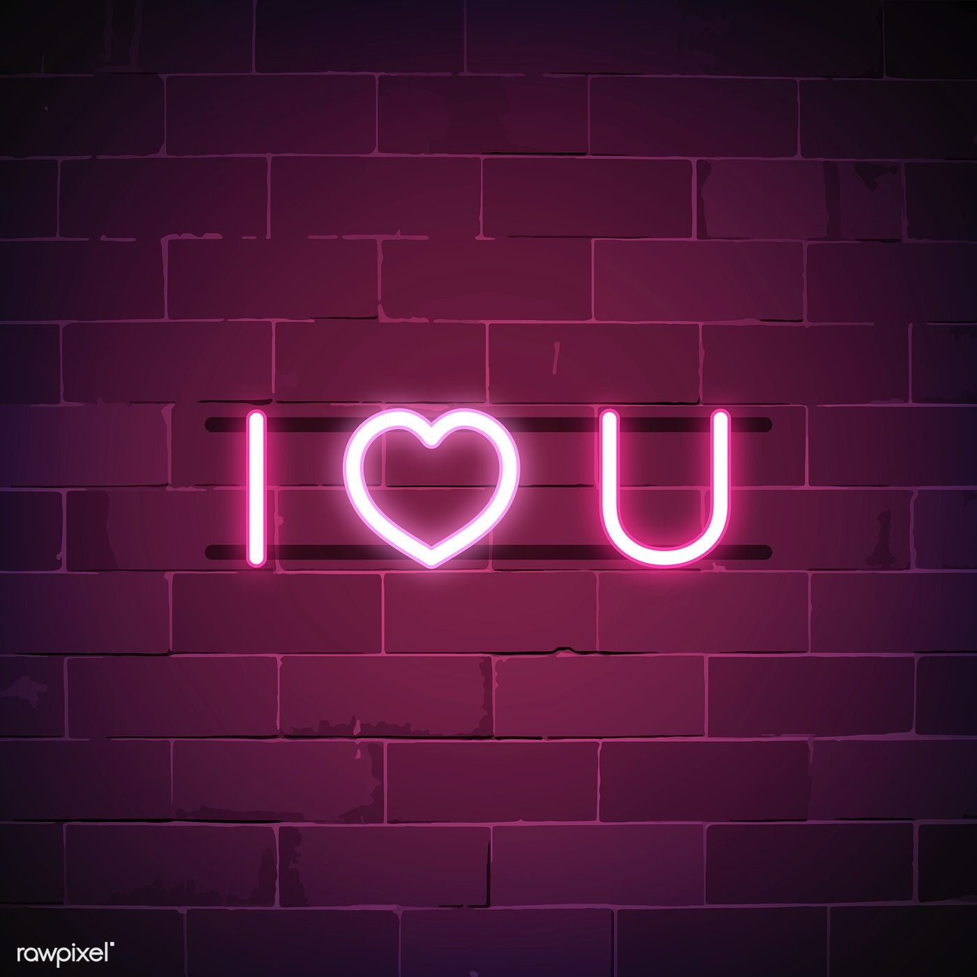 I Love You Neon Sign Vector Free Image By Rawpixel Com Ningzk