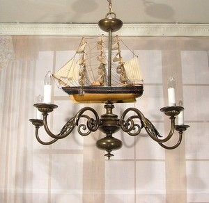 Nautical Chandeliers Brass Chandelier Custom Nautical Sail