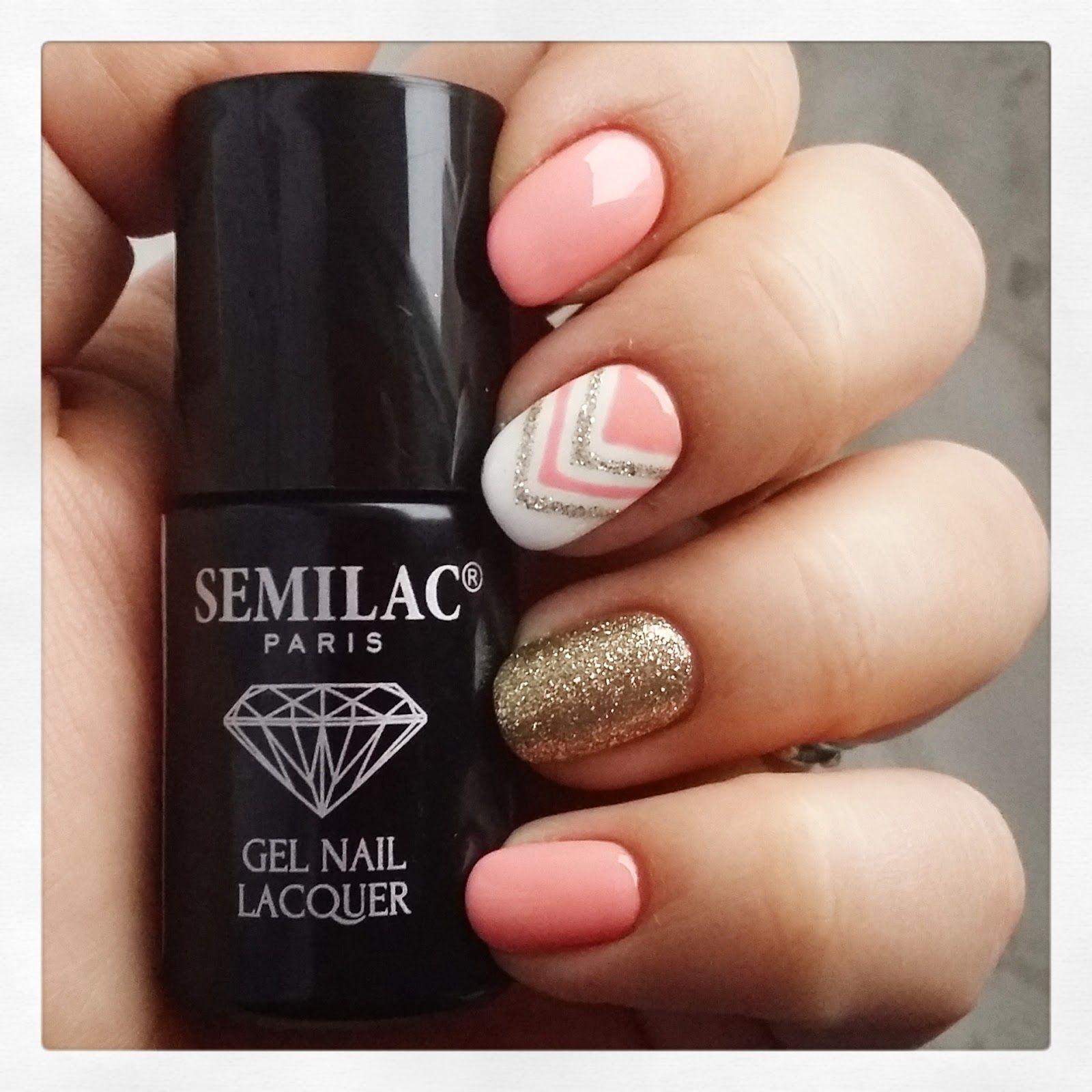 Semilac, PEACH MILK nr 055 Semilac, STRONG WHITE nr 001 Semilac ...