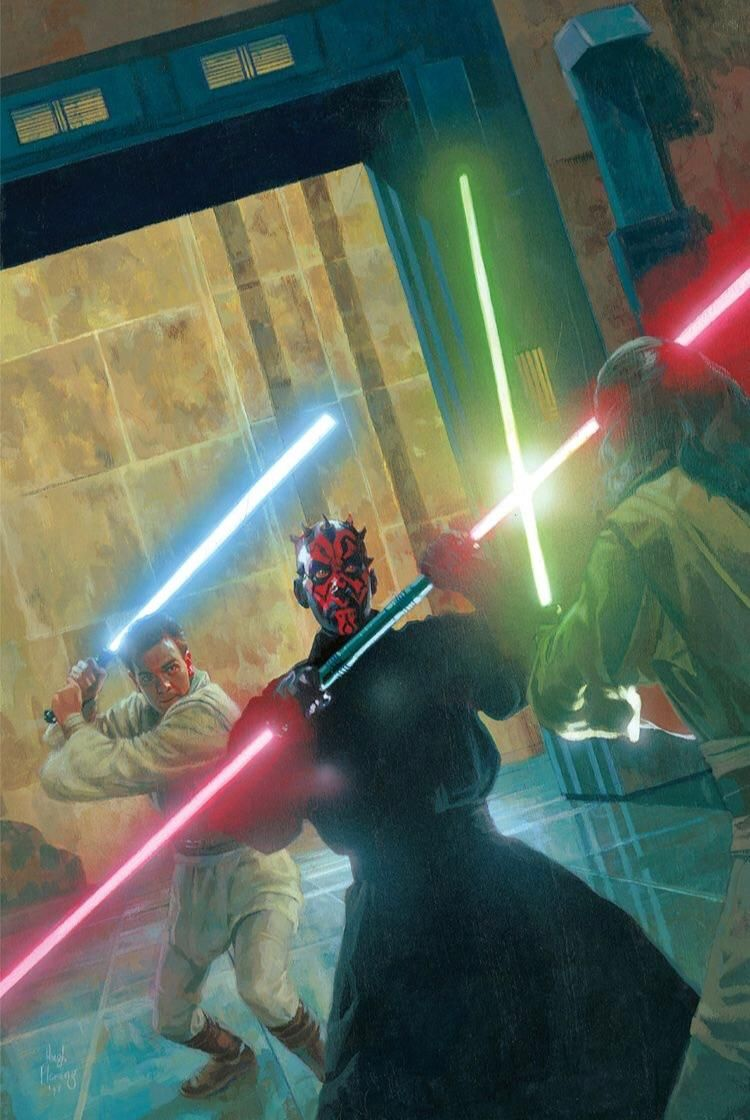 Photo of Today we celebrate the greatest Lightsaber Duel in Star Wars history , it had hype , build up and it had possibly the greatest score in SW history ,, I remember hearing the air get sucked out of the theatre when Qui-Gon went down and loved the suspense