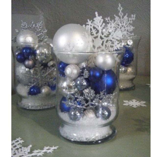 Blue and white centerpiece for the home pinterest