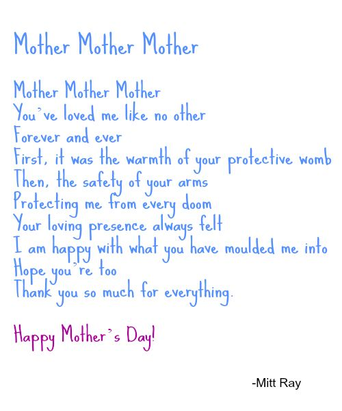 Mothers day poems short mothers day poems poems for for Short poems for daughters from mothers