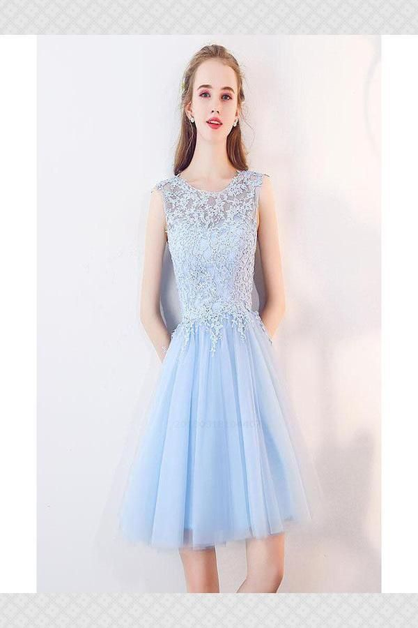 8f24160ae0bb Advertisement; Custom Made Comfortable Homecoming Dresses Blue, Homecoming  Dresses For Cheap, Beautiful Homecoming Dresses,