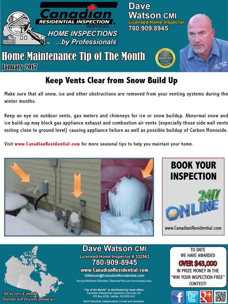 Edmonton Home Maintenance January 2017