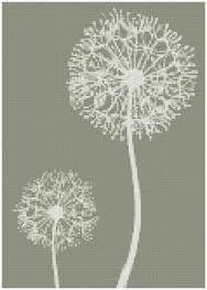 Image result for dibujos de flor diente de leon para bordar punto cruz