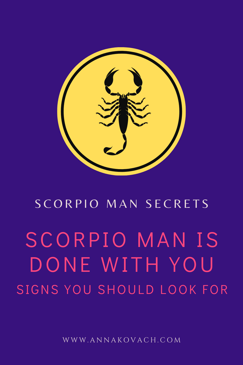 A man you scorpio will use What Kind
