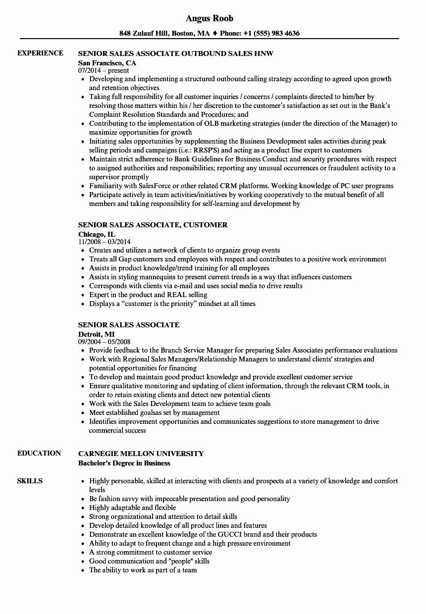 23 Resume Examples for Sales associate in 2020 Resume