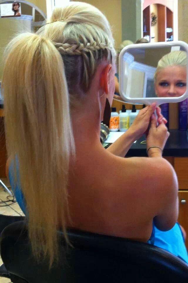 Quiff Braid Ponytail Hair Pinterest Hair Hair Styles And Braids