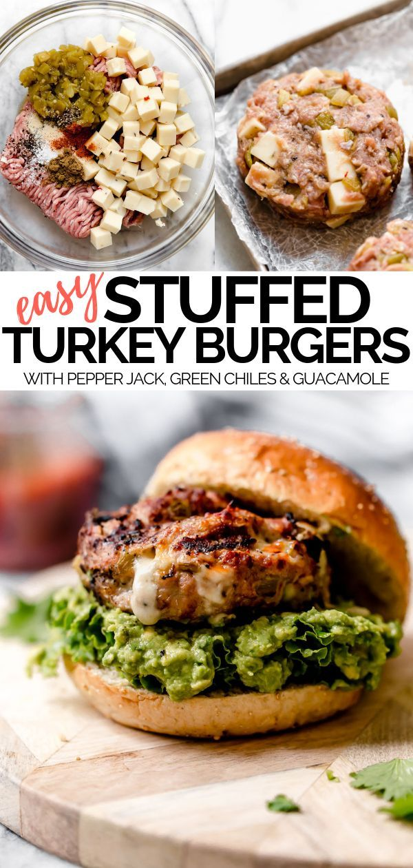 Stuffed Southwest Turkey Burgers - plays well with butter