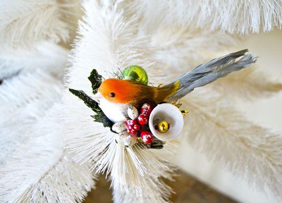 Repurposed Candle Clip Ornament: Tweet Tweet
